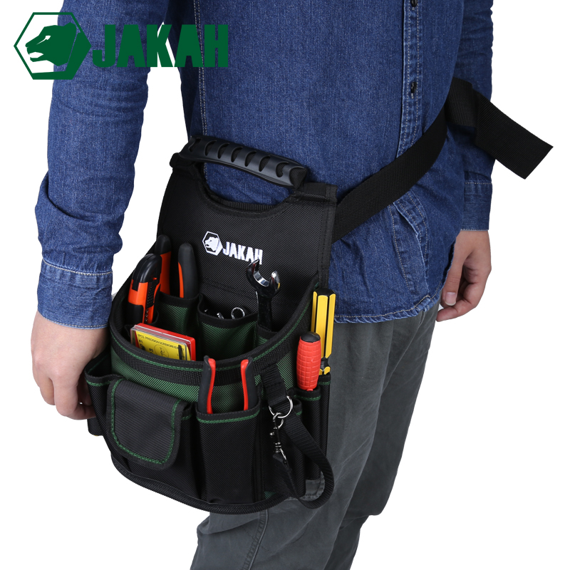JAKAH Electrician Bag Thickening Oxford Cloth Storage Bag Hardware Waist Tools Bags Multifunction Multi pocket Bag