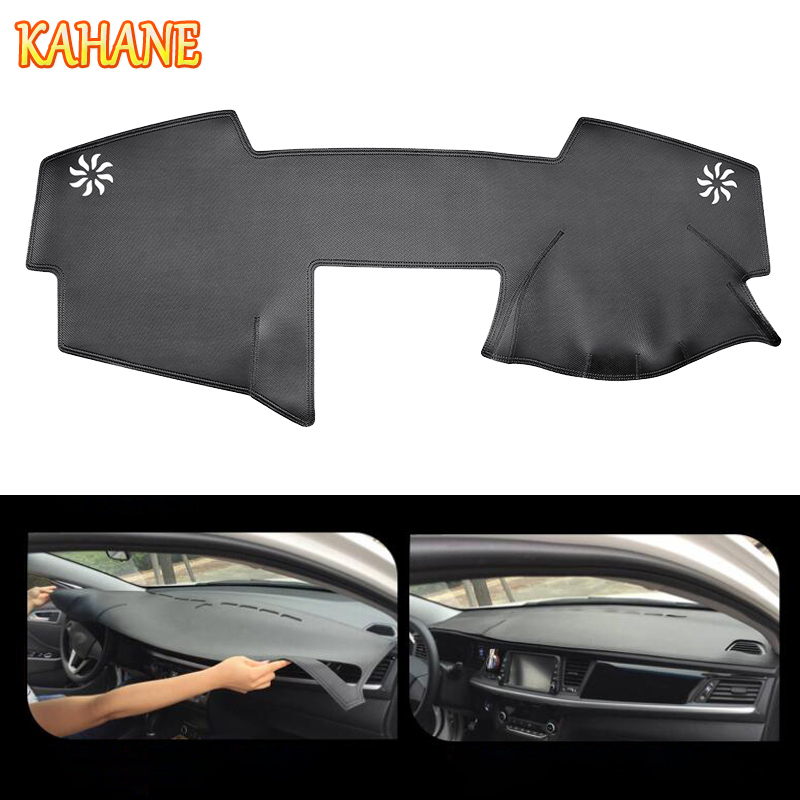 KAHANE Leather Car Dashboard Cover Non Slip Dash Mat Pad Right Hand Driver For Toyota Camry 2006 2012
