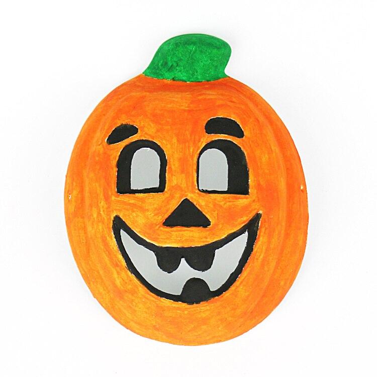 Halloween Tekeningen Pompoen.Us 18 83 30 Off 6 Stks Lot Blank Pompoen Masker Handgeschilderd Uw Eigen Halloween Speelgoed Tekening Speelgoed Kleuterschool Ambachten Diy