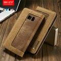 Jeans vintage lienzo flip case para samsung galaxy s7 case flip proteger cowboy tarjeta de crédito monedero case cubierta para samsung S7