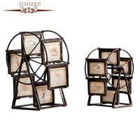 STAYGOLD Vintage Home Decor Shabby Chic Ferris Wheel Frame Rotating Windmill Home Decoration Accessories Enfeites Para Casa