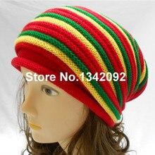 2015 di Nuovo Modo Gorro Rasta Beanie Uomini Cappello Donne Giamaica Bob  Marley Slouch Baggy Inverno ed140a8fca2c