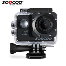 SOOCOO C30 Action 4K Sports Camera NTK96660 Waterproof Wifi Gyro 70-170 Degrees Adjustable Action Cam