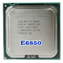 Asli Intel Core 2 Duo E6850 Socket LGA 775 Prosesor CPU (3 GHZ/4 M/1333 M Hz) 65W