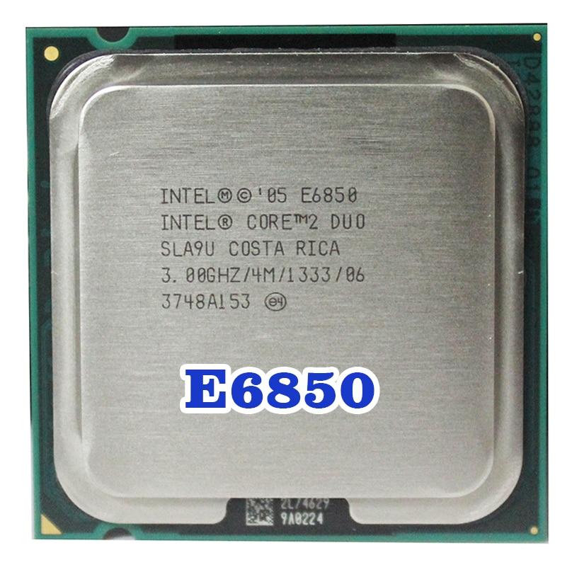 Original INTEL  Core 2 Duo E6850 Socket LGA 775  CPU Processor (3GHz/ 4M /1333MHz) 65W
