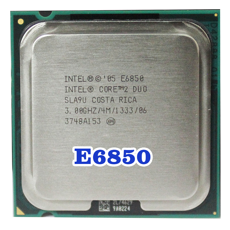 Original INTEL Core 2 Duo E6850 Socket LGA 775 CPU procesador (3 GHz/4 M/1333 MHz) 65 W