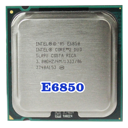 Original INTEL Core 2 Duo E6850 Socket LGA 775 CPU (procesador de 3 GHz/4 M/1333 MHz), 65W