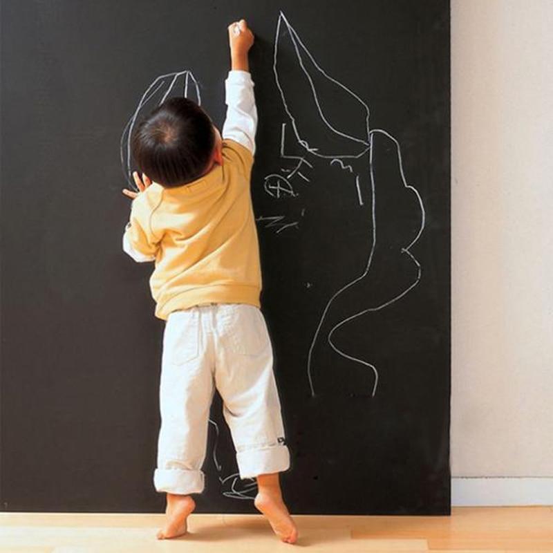 2 pieces/lot Wall Stickers Blackboard Paint learning children drawing toy Vinyl Chalkboard 30*40CM