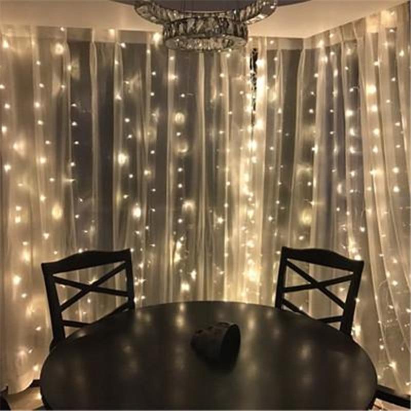 300leds fairy string icicle led curtain light 300 bulbs Outdoor Home - Oświetlenie wakacje - Zdjęcie 3