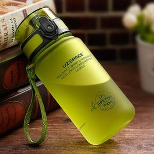Image 2 - UZSPACE 350ml Spor Su Şişesi Çocuk Güzel Çevre Dostu Plastik Sızdırmaz Yüksek Kaliteli Tur Taşınabilir benim içme şişesi BPA Ücretsiz