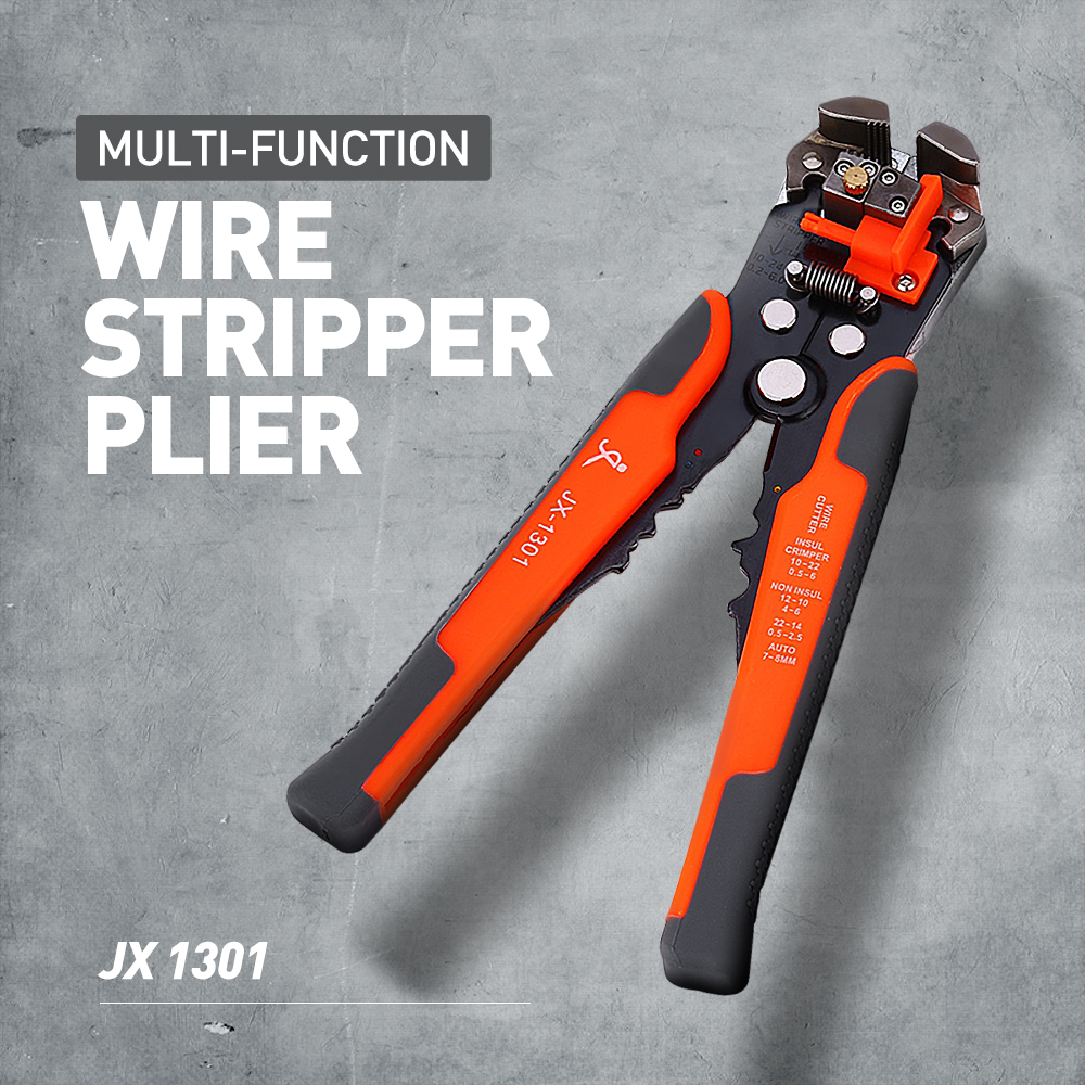 JX1301 Cable Wire Stripper Cutter Crimper Automatic Multifunctional TAB Terminal Crimping Stripping Plier Tools