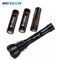 NKTECH Super Bright 9T6 9x CREE XM L T6 LED 11000 Lumens 5 Modes Flashlight Torch