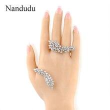 Nandudu encanto brazalete palma puño mano ajustable handlet brazalete mejor partido para el partido mujeres joyería r215
