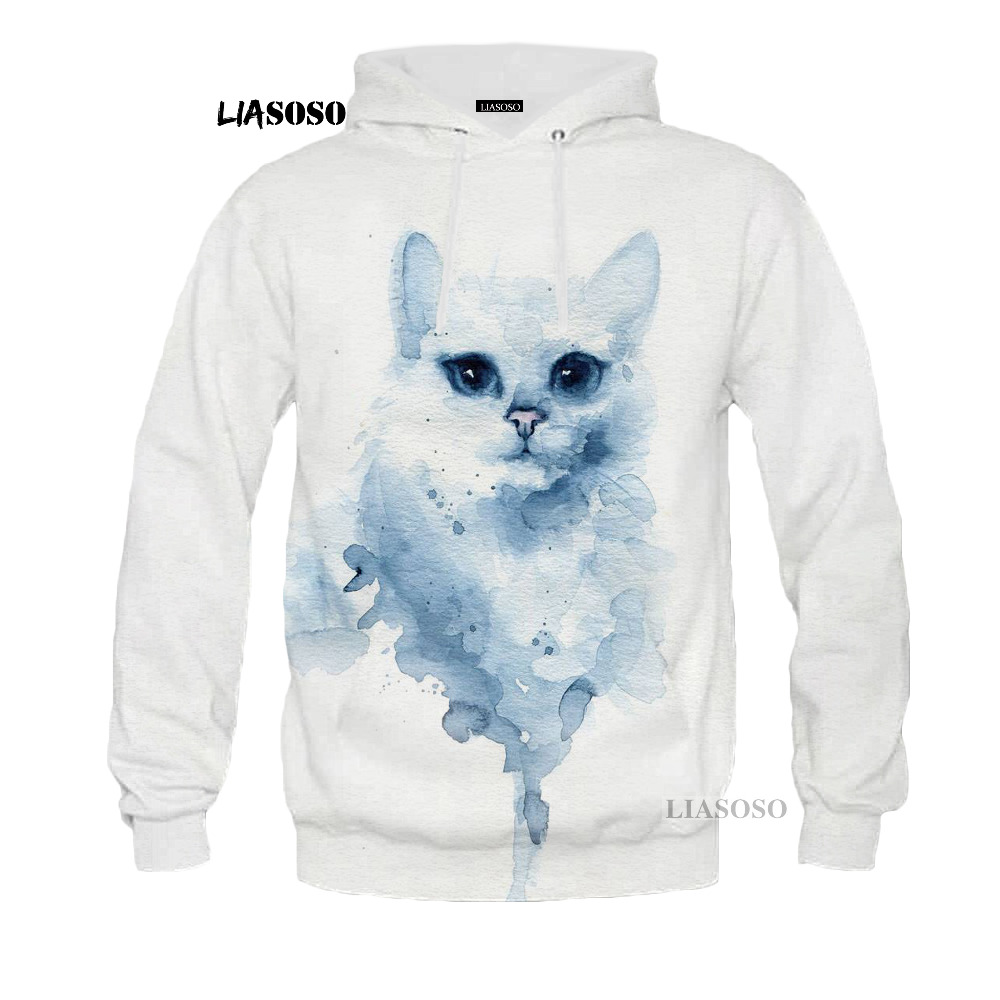 LIASOSO 2018 Cute Animals Cat Dog Special Wolf 3D Printed Hoodie Sweatshirt For Men/women Rabbit Lion Pug Hoodie Sweatshirt G003