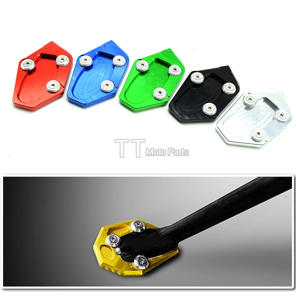 6 colours  Motorcycle Kickstand Aluminum Enlarge Extension Side Stand Plate Enlarge For yamaha mt-07 14-15 2014 2015 mt07 mt 07 for yamaha mt09 mt 09 mt 09 2013 2015 2014 new motorcycle parts kickstand foot side stand enlarge extension pad support plate