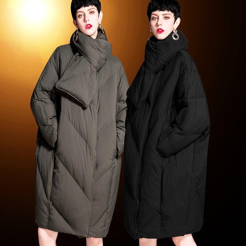Canard Mode Long 2018 Blanc De Occasionnels Épais Le Version Femmes army Veste Green Coréenne Col Et Nouveau La Femme Vers Noir Duvet Bas AfqAUrw