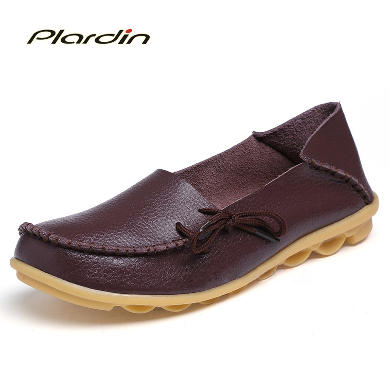 plardin 2017 Women Plus Size  lace up Flat Shoes Woman Loafers  Women's Fashion genuine leather Casual Shoes Female Footwear 1156 ba15s p21w xenon led light 80smd auto car xenon lamp tail turn signal reverse bulb light free shipping