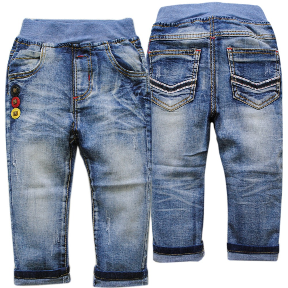 Fashion Boys Jeans Autumn Kids Jeans Trousers Denim Pants Age 5-8 Years H