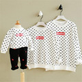 autumn & winter family clothes baby girl pullover unisex cotton print letter sweater casual long sleeve father and son clothes