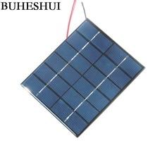 2 Вт 6 в поликристаллический модуль солнечной батареи+ кабель/провод DIY Солнечная Панель зарядное устройство для 3,7 в светильник для изучения батареи 110*136 мм 2 шт