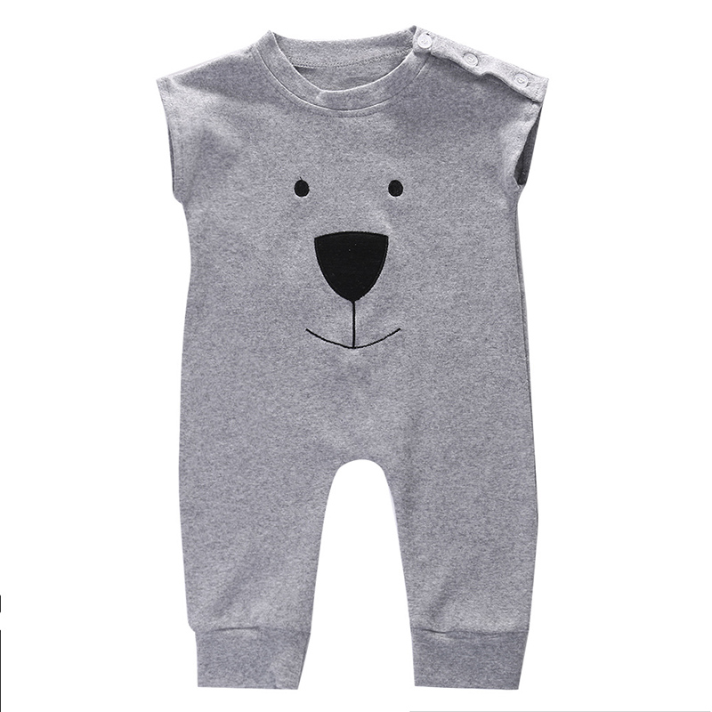 Aspiring Baby Newborn Rompers Baby Girls Boys Cartoon Bear Sleeveless Cotton Summer Jumpsuit Infant Outfits Clothes 0-24m Rich In Poetic And Pictorial Splendor