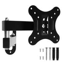 Universal Adjustable 10KG TV Wall Mount Bracket Flat Panel TV Frame Support 10 Degrees Tilt with Small Wrench for 14 - 27 Inch L