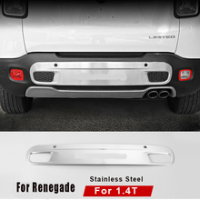 1pc/set Stainless Steel Auto Car Rear Bumper Cover Guard Skid Plate Protector Fit For Jeep Renegade 1.4T 2015 16 1pc set stainless steel auto car rear bumper cover guard skid plate protector fit for jeep renegade 1 4t 2015 16