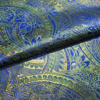 Blue Green Gold Palace Gorgeous Gorgeous Wind Brocade Fabric Silk Satin Fabric R 100CM 70CM