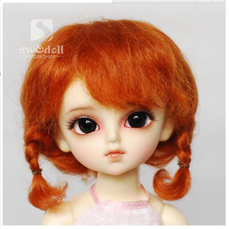 1PCS Hot Sale Doll Accessories Curly Mohair Doll Wig For BJD Doll 1/4 1/3 1/6 8 9 bjd wig silver knights of england volume mohair wig spot