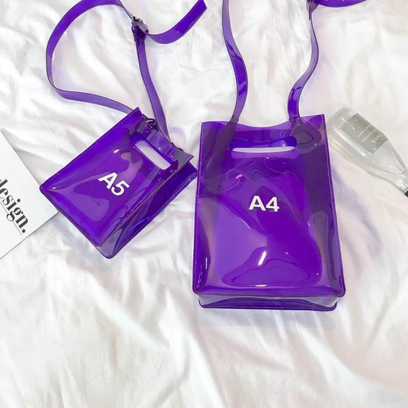 Fashion Transparent Letters Beach Bag Shoulder Bags Handbags Women 2019 Summer New Hot Female Casual Messenger Bags Flap Bags