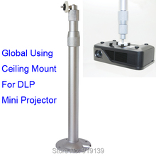Big discount New Aluminum Alloy Universal Ceiling Mount Bracket For Mini DLP LED Video Projector 30 to 60 cm Telescopic Tength Free Shipping