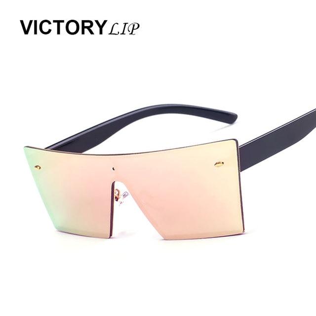 aa1694f9e81 VictoryLip Men Women Square Rimless Sunglasses Mirror Brand Designer Sun  Glasses Frame Vintage Cool Fashion HIpster UV400