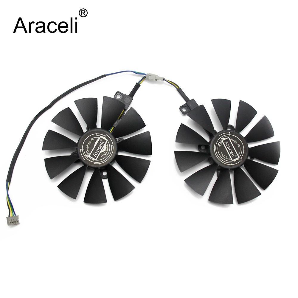 88MM T129215SU 0.50A Cooler Fan For ASUS GTX1060 1070 Ti RX 470 570 580 Dual OC Graphics Card Everflow Cooling Fans