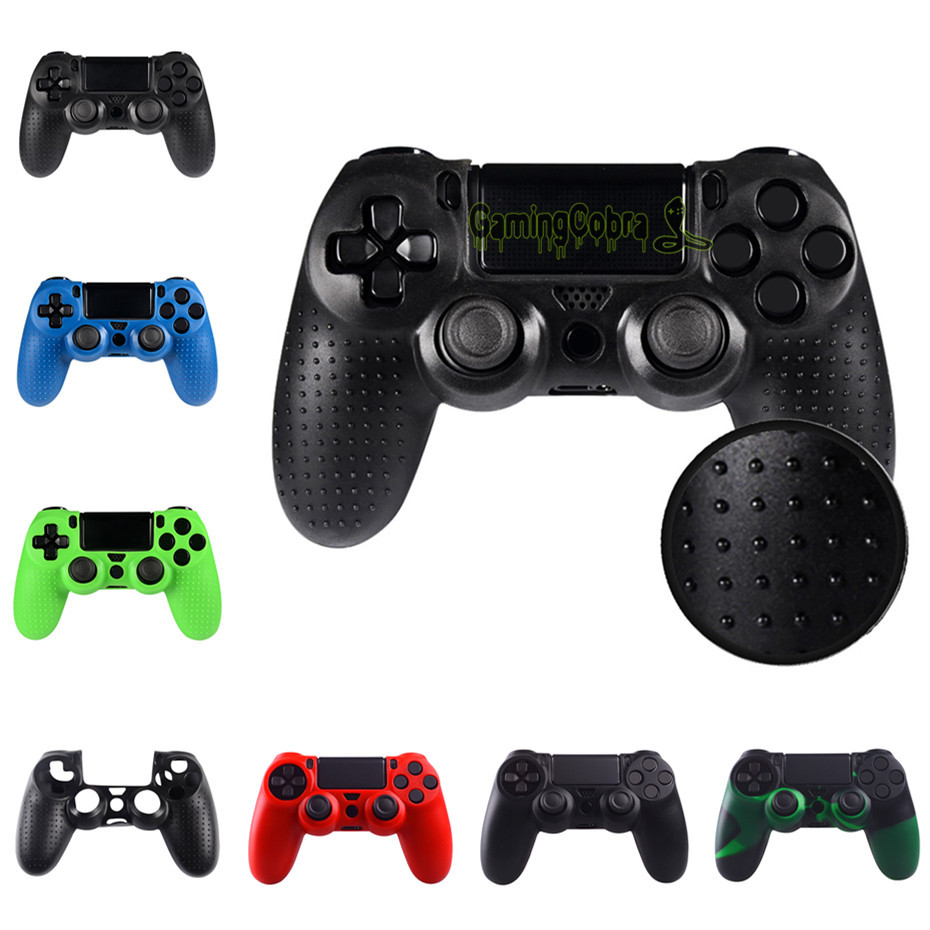 Black Silicone Rubber Soft Case Skin Grip Cover for PS4 / for PS4 Slim / for PS4 Pro Controller -P4CC00