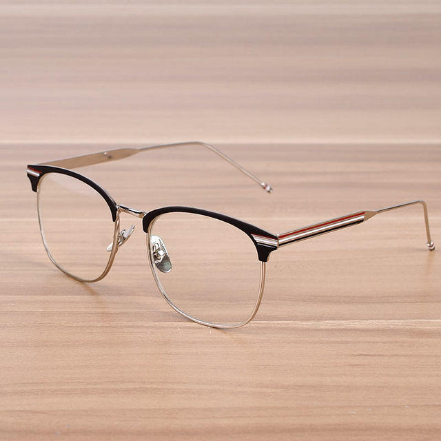182380d35a Women And Men Fashion Metal Glasses Frame Hot Sale Clear Lens Unisex Optical  Glasses Male Female Spectacles Trendy Eyewear Frame