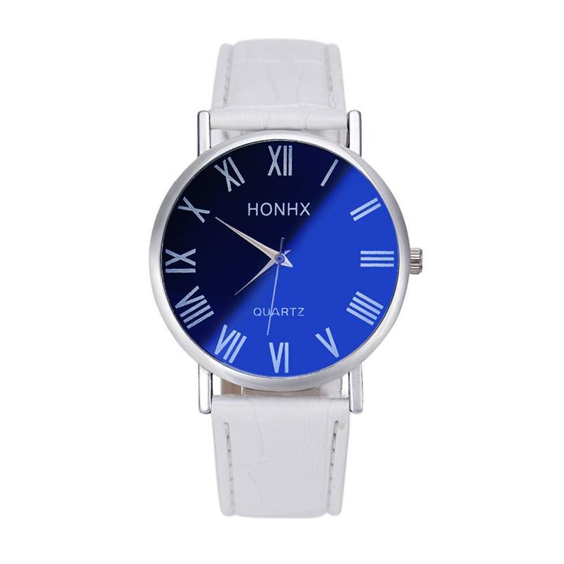 Horloge montre Geneva Luxury Fashion Men Leather Quartz Analog Wrist Watch <font><b>Blu-ray</b></font> Mirror orologio Relojes Dropshipping