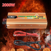2000W Car Sine Wave Power Inverter Converter Charger Car DC 12V to AC 220v Converter CY178-CN