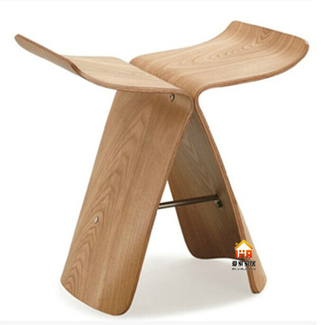 Ash Wood Butterfly Chair Wooden Pick HU Parlor Chairs Leisure Chairs  Bending Bent Wood Chair Stool