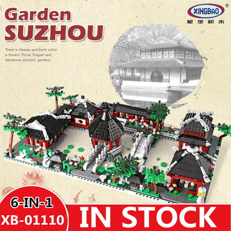 H&HXY XingBao 01110 Chinese Style Building Series 6 in 1 Chinese Suzhou Garden Model Set Building Blocks Bricks Toys for Childre time series model building on climate data in sylhet