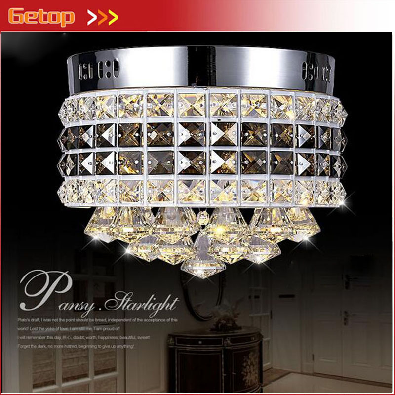 ZX Modern Circular Crystal LED Ceiling Lamp Luxury LED Chip Lights Fixture for Sitting Room Corridor Balcony Restaurants Lamp vemma acrylic minimalist modern led ceiling lamps kitchen bathroom bedroom balcony corridor lamp lighting study