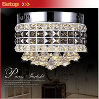 ZX Modern Circular Crystal LED Ceiling Lamp Luxury LED Chip Lights Fixture For Sitting Room Corridor