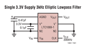 Image 3 - LTC1069 1CS8 LTC1069 6IS8 LTC1069   Low Power, 8th Order Progressive Elliptic, Lowpass Filter