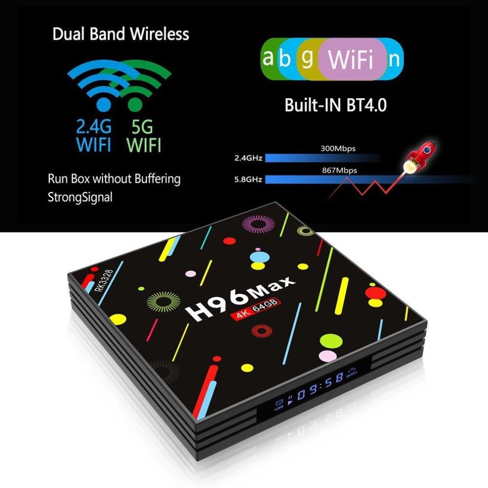 H96 MAX-H2 4G RAM + 64G ROM Smart TV Box For Android 7.1 RK3328 Quad-core Set-top Box Support H.265 UHD BT True 4K 你好 法语4 学生用书 配cd rom光盘