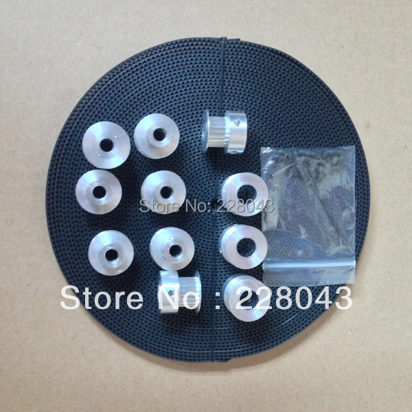 10M gt2 belt, 5pcs gt2 pulley 20 teeth 5mm bore and 5pcs 2gt2 pulley 20 teeth 8mm bore синий пояс ru belt 2 5 м