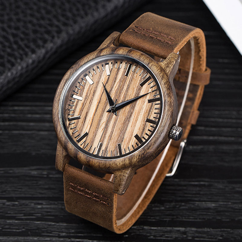 2017zebra wooden watch bamboo de leather Japan quartz wristwatch for men gift top luxury brand personalized male clock SIHAIXIN sihaixin wooden watch male timepiece simple black design men top brand wrist watches nature hand made bamboo quartz clock man de