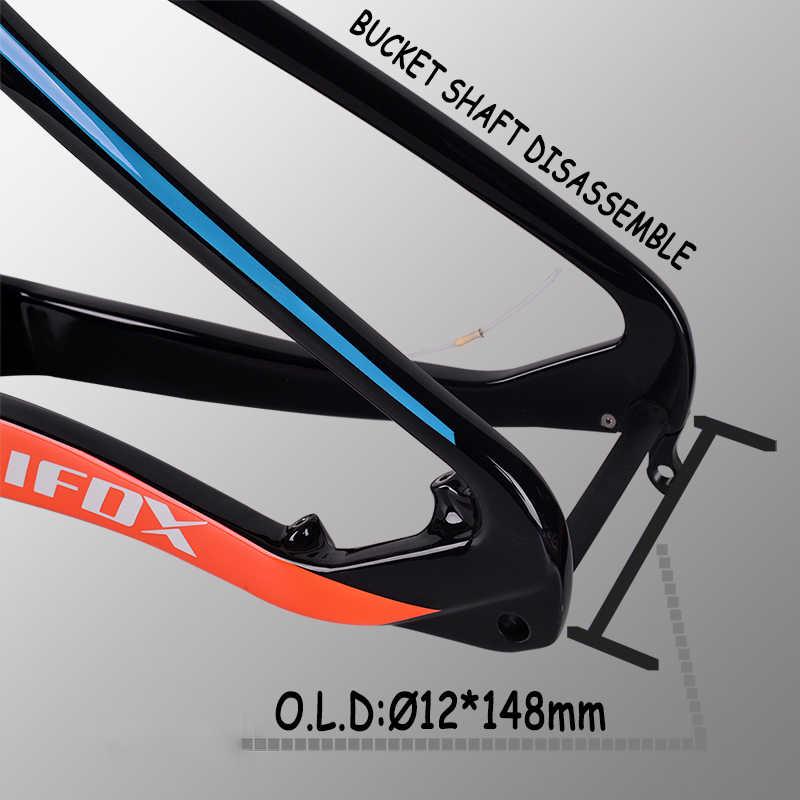 Cadre de Suspension Carbone TRIFOX vtt 29 Cadre vtt Carbone T800 Cadre de vtt 148*12mm Marco de bicicleta