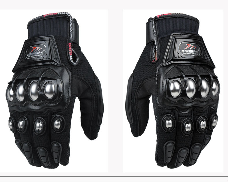 New Hot Metal Strong Knuckle Mad Racing Motocross Motorcycle Armour Gloves-in Gloves from ...