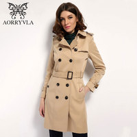 2017 New Fashion Trench For Women S Spring Summer Classic Double Breasted Slim Long Coat Material