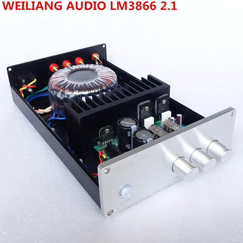 weiliang Audio & Breeze Audio  LM3886 BA1 2.1 channel subwoofer bass home audio amplifier power amplifier