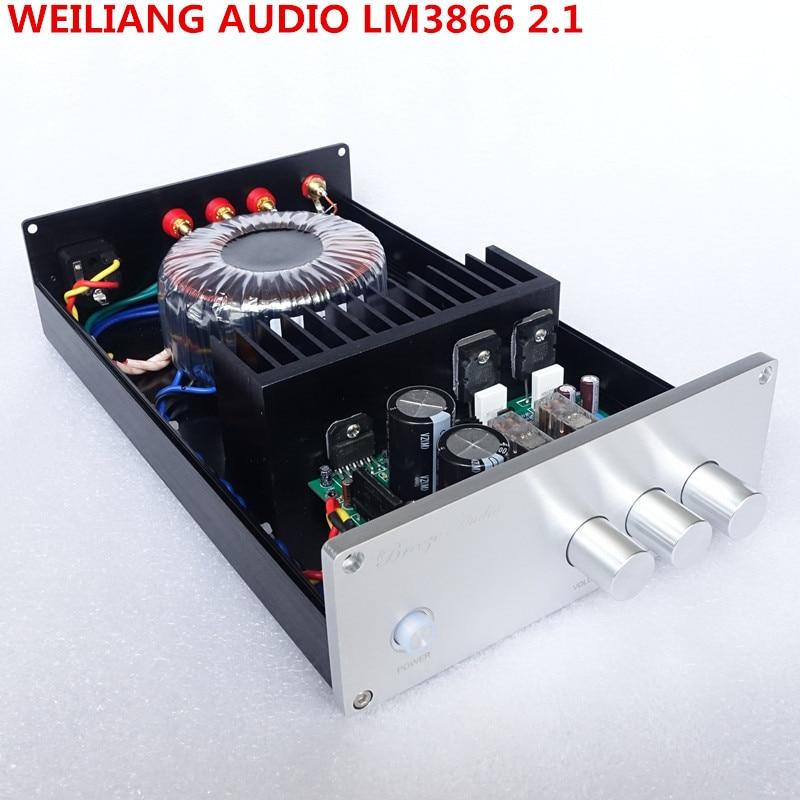 weiliang Audio & Breeze Audio LM3886 BA1 2.1 channel subwoofer bass home audio amplifier power ...